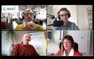 Podcast-Teilnehmer: Wildermuth, Muuß, Löbel, Zander