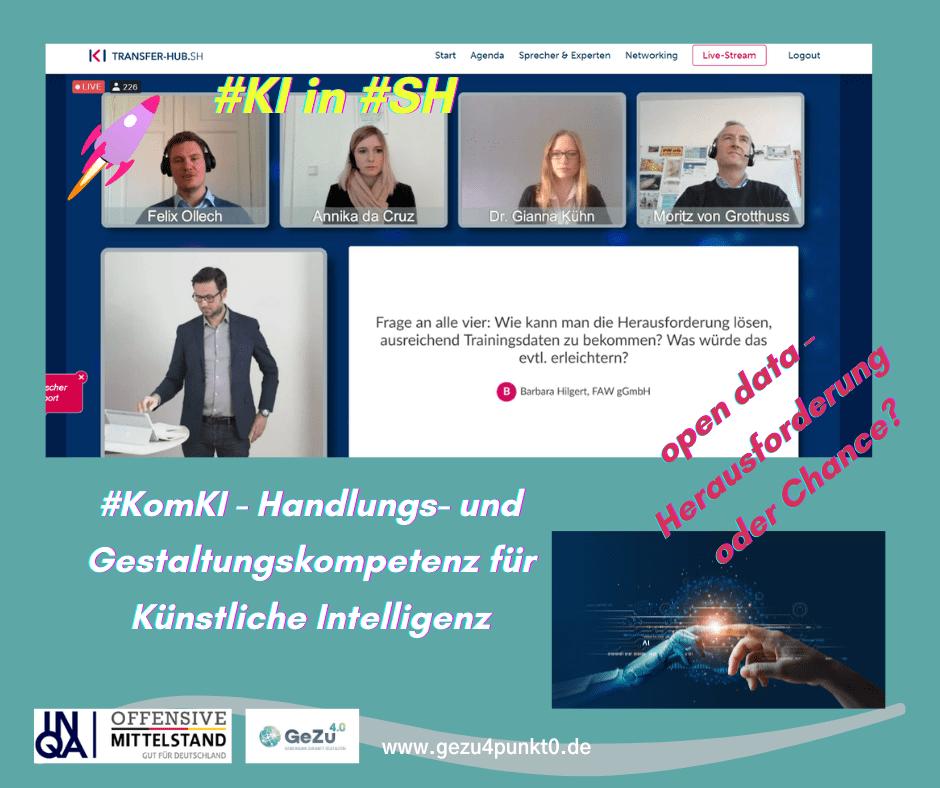 open data – Herausforderung oder Chance ? Bei der Eröffnung des KI Transfer Hubs Schleswig-Holstein wurde diese Frage diskutiert