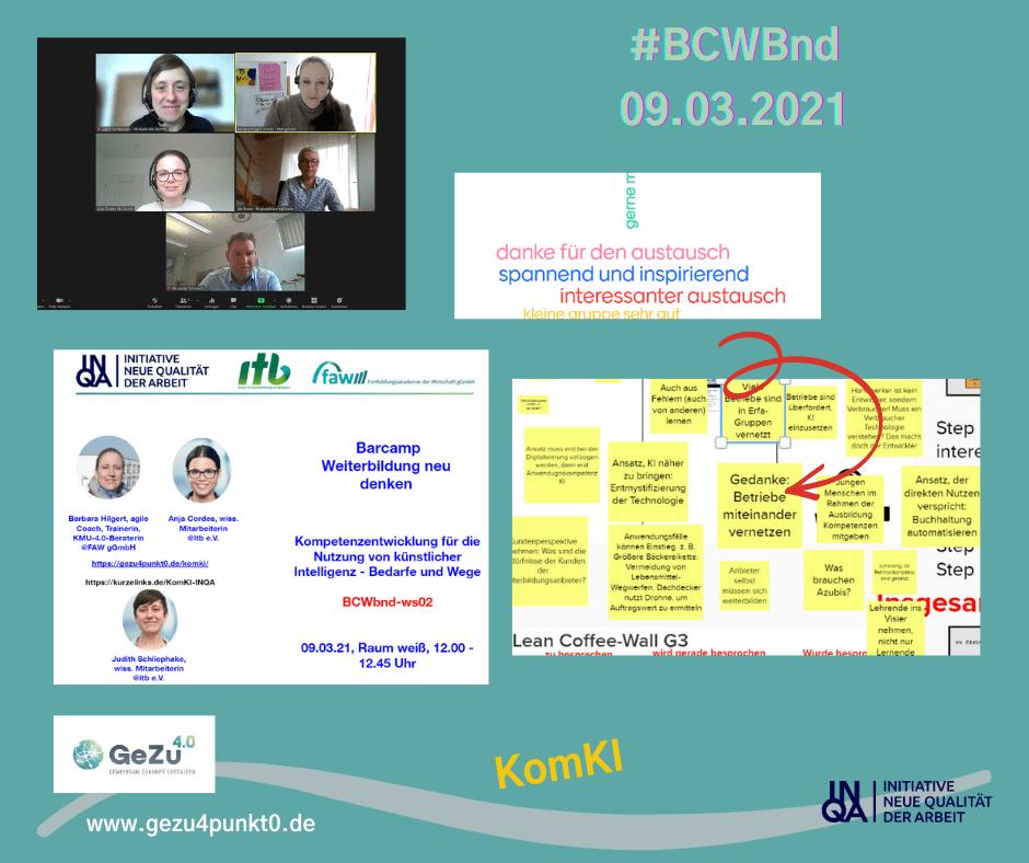 Der Praxischeck geht weiter – KomKI auf dem Barcamp Weiterbildung neu denken