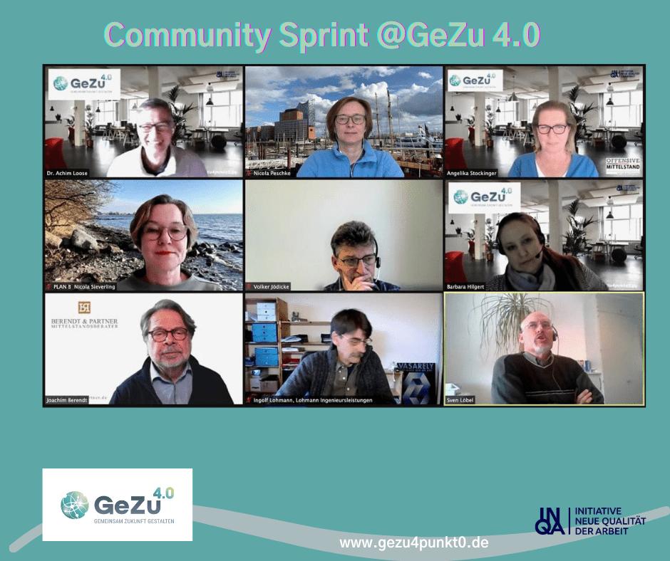 Ein Experiment der besonderen Art – der GeZu 4.0 – Community Sprint